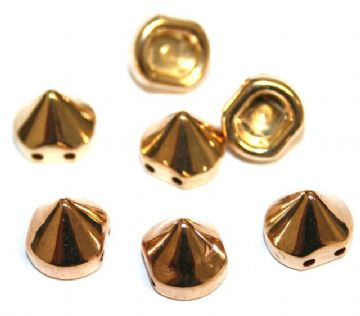 130pcs x 9mm*9mm stud - spike beads -- with 2 holes --  Finish: rose gold